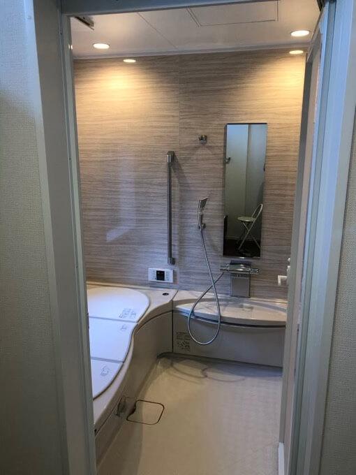 住友林業のトクラスお風呂はダウンライトが標準仕様