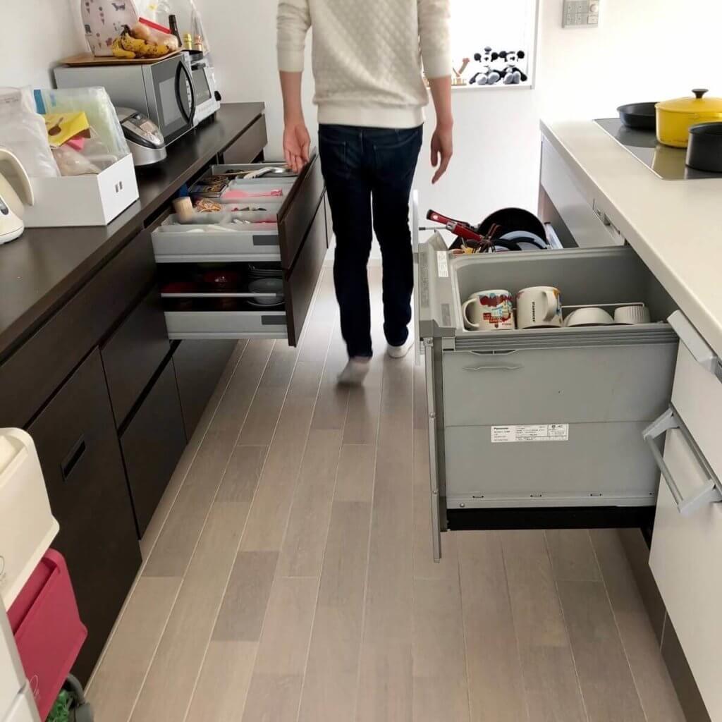 キッチンの狭いスペース
